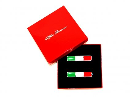 Alfa Romeo/Abarth/Fiat Sada znaků Italská vlajka