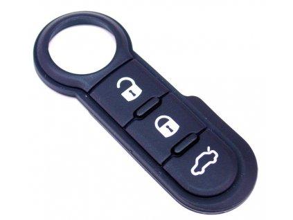 Gumové tlačítko na klíč Fiat