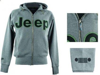 Jeep mikina zip šedivá