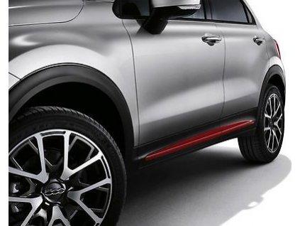 Fiat 500X Boční lišty červené