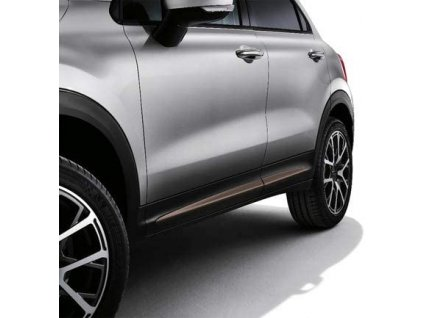 Fiat 500X Boční lišty matně bronzové