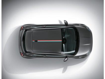 Fiat 500 EV Samolepka střešní italská vlajka