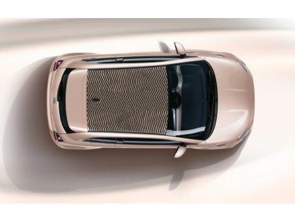 Fiat 500 EV Samolepka střešní optical chevron
