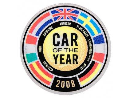 Fiat 500 Samolepka Car of the Year 2008
