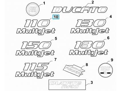Fiat Ducato Nápis 110 Multijet