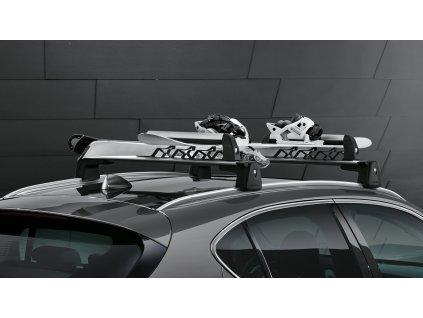Nosič lyží, pro 3 páry lyží / 2 snowboardy