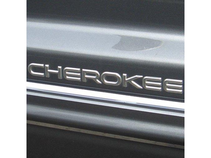 Nápis CHEROKEE stříbrý XJ