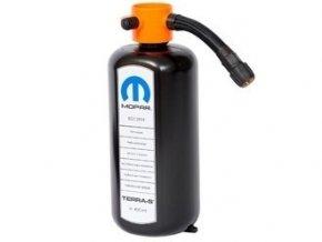 láhev v pružným tmelem na opravu pneumatiky