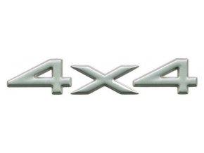 Nápis 4x4 silver WJ/WG