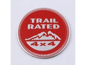 Znak TRAILRATED 4x4 red KL