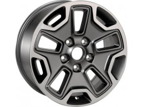 "Mopar kolo 17x7.5"" Rubicon in Polished & Mineral Gray"