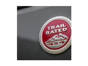 Jeep JK Wrangler emblém Red Trail Rated