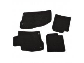 MiTo Sada 4 velurových koberečků, černá