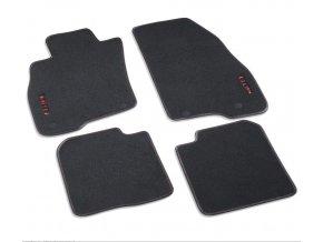 MiTo Sada 4 velurových koberečků, červená