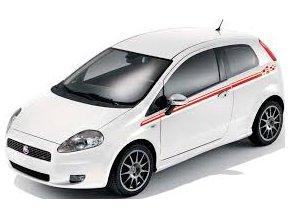 Fiat Venkovní polepy horní boční, grafika šedé kostky, černá 3 dv.