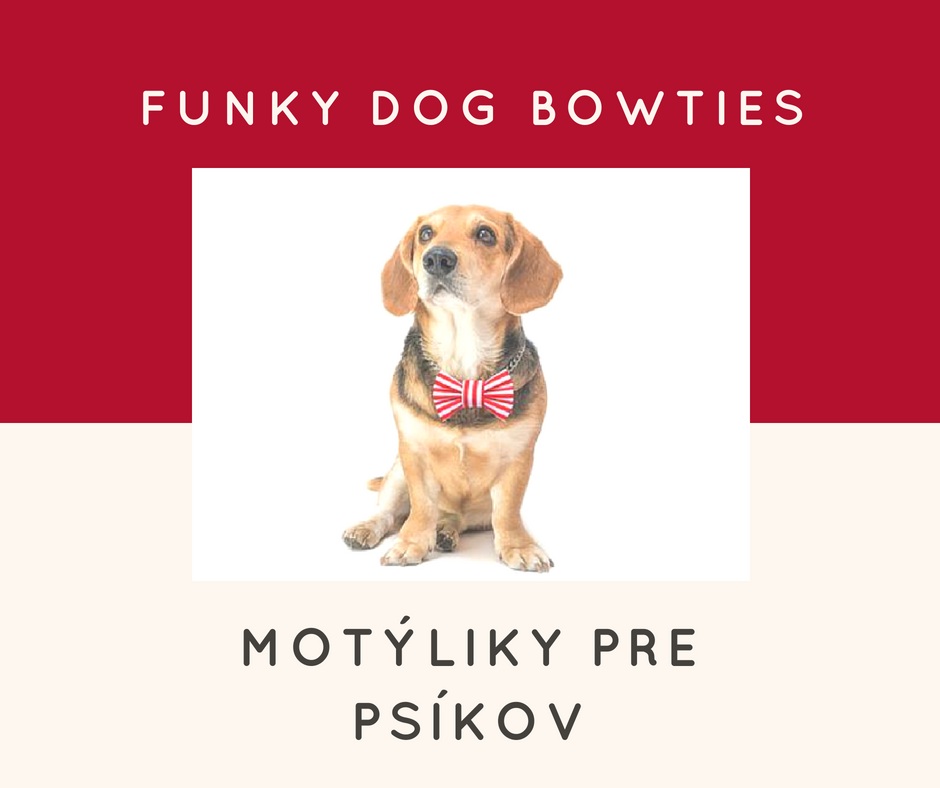 Funky Dog motýliky pre psíkov