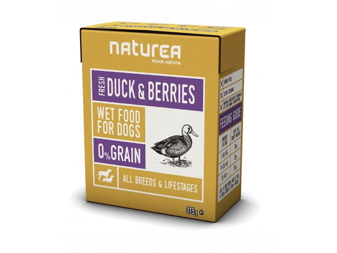 duck and berries