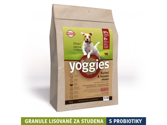 1 2 kg minigranule kureci a hovezi maso minigranule lisovane za studena s probiotiky yoggies