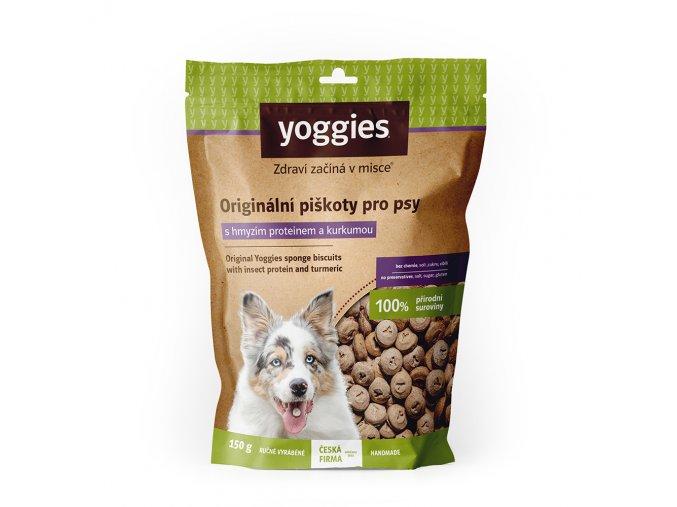 1600 yoggies hypoalergenni bezlepkove piskoty s hmyzim proteinem a kurkumou 150g