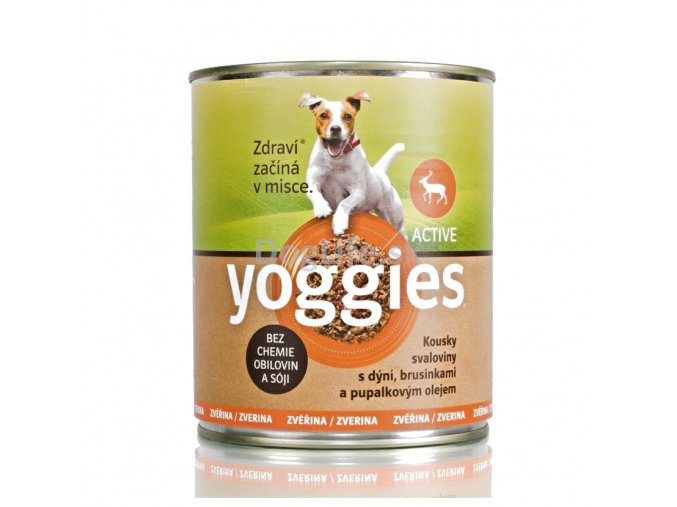 462 800g yoggies zverinova konzerva pro psy s dyni a pupalkovym olejem
