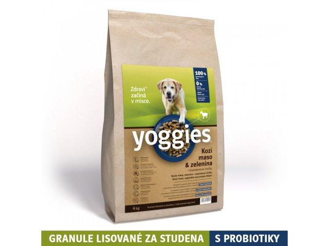 4kg hypoalergenni granule yoggies s kozim masem a br vlockami lisovane za studena s probiotiky