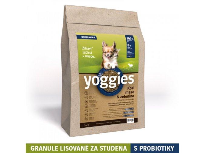 1 2kg minigranule hypoalergenni yoggies s kozim masem a br vlockami lisovane za studena s probiotiky