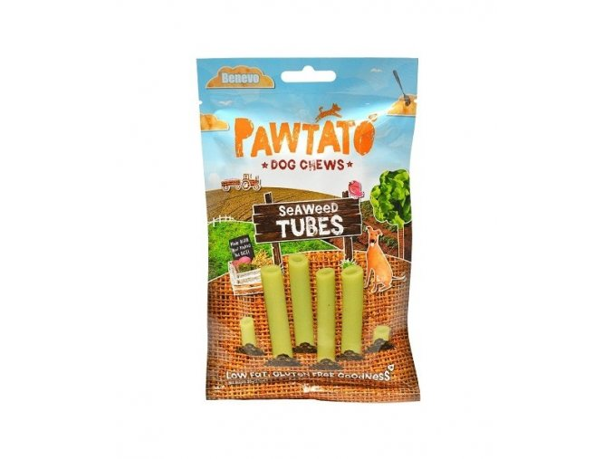 odmena pre psy benevo pawtato tubes seaweed 90g