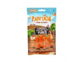 odmena pre psy benevo pawtato tubes turmeric chicory root 90g