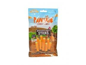 odmena pre psy benevo pawtato sticks spinach kale 120g