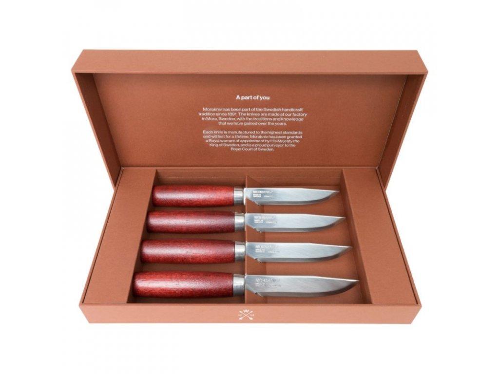 Morakniv sada steakových nožů Classic Gift Set 4