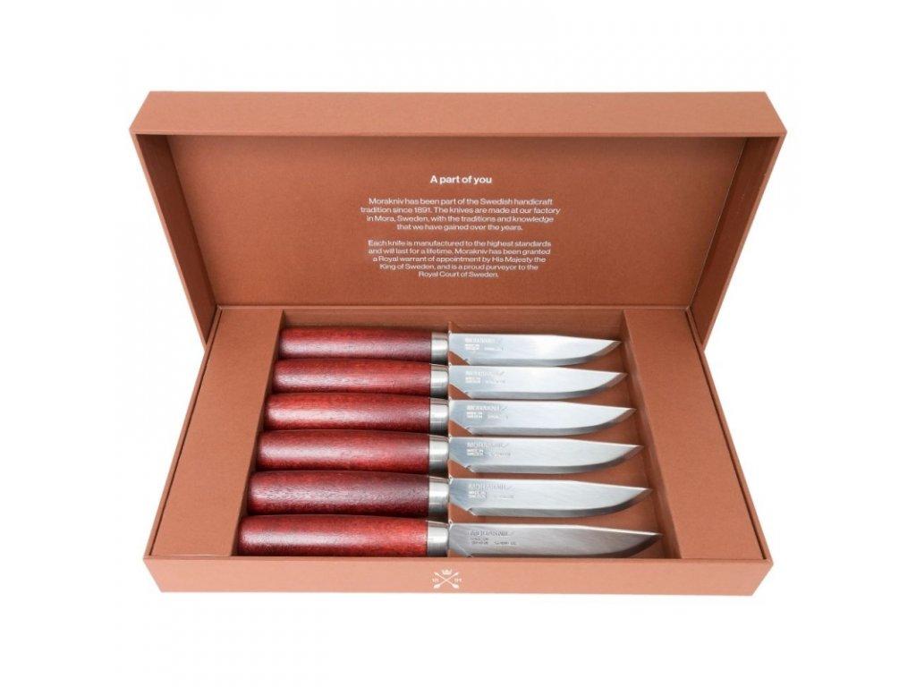Morakniv sada steakových nožů Classic Gift Set 6