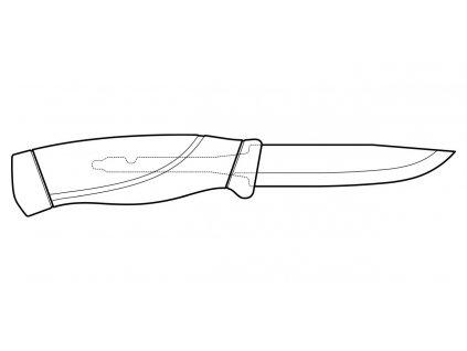 Morakniv nůž Companion HeavyDuty Burnt Orange (S)
