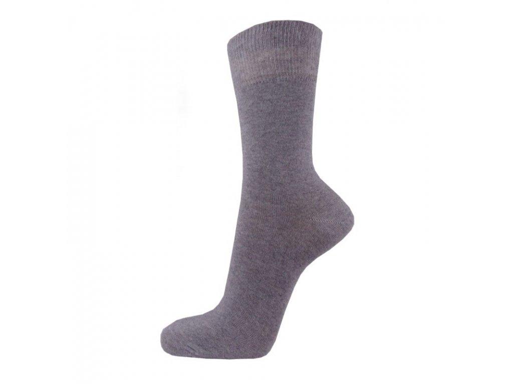 Klasické bavlněné ponožky - šedé