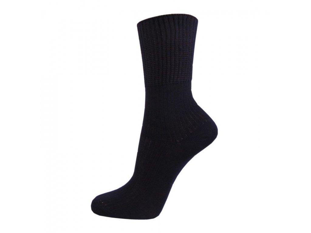 Zdravotní bavlněné ponožky - tmavě modré