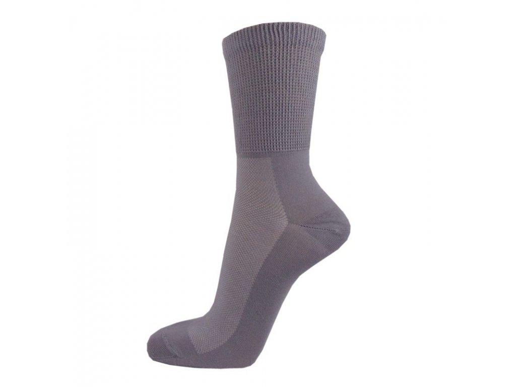 Zdravotní bavlněné ponožky MEDIC TOP - světle šedé