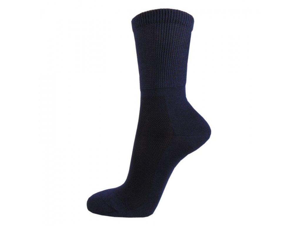 Zdravotní bavlněné ponožky MEDIC TOP - tmavě šedé