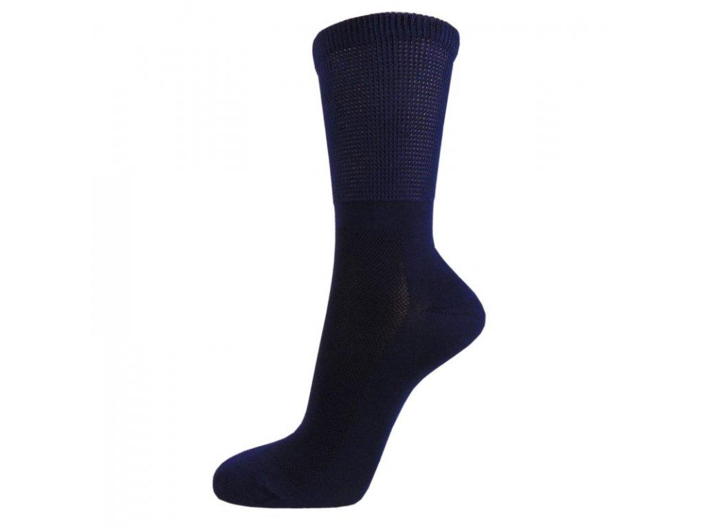 Zdravotní bavlněné ponožky MEDIC TOP - tmavě modré