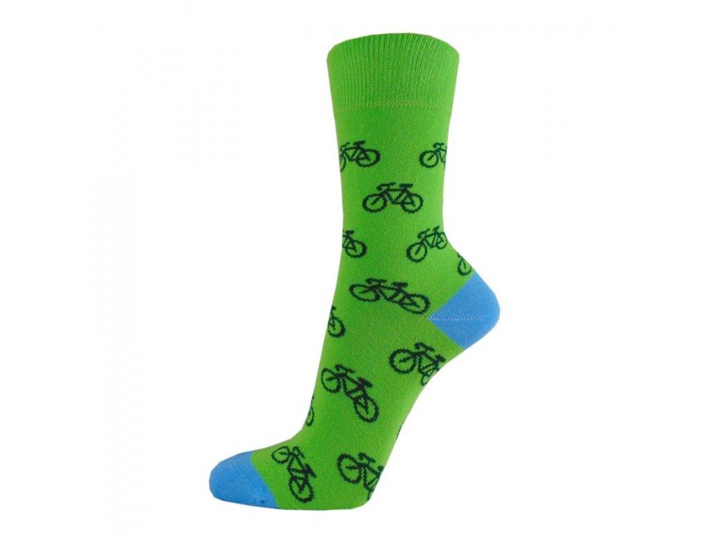Veselé bavlněné ponožky CYKLO světlé