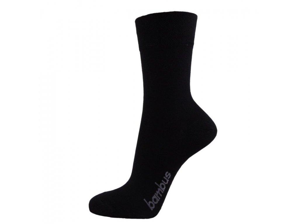 Klasické ponožky z BAMBUSOVÉ VISKÓZY - černé