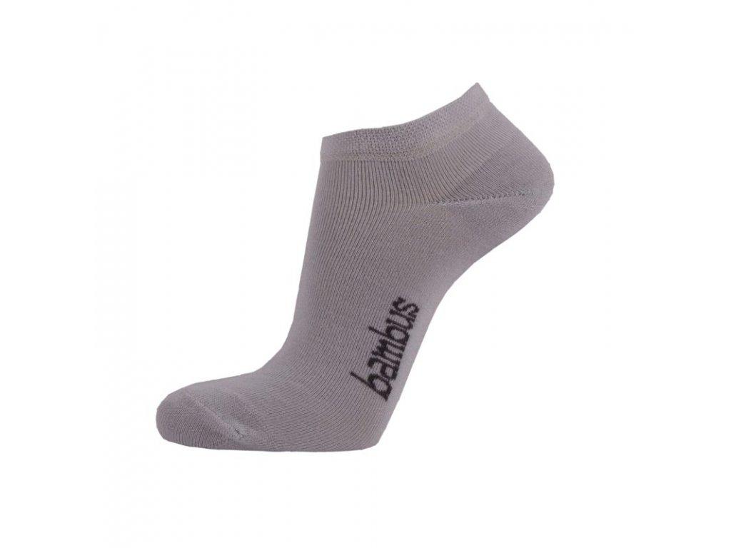 Kotníkové ponožky z BAMBUSOVÉ VISKÓZY - šedá