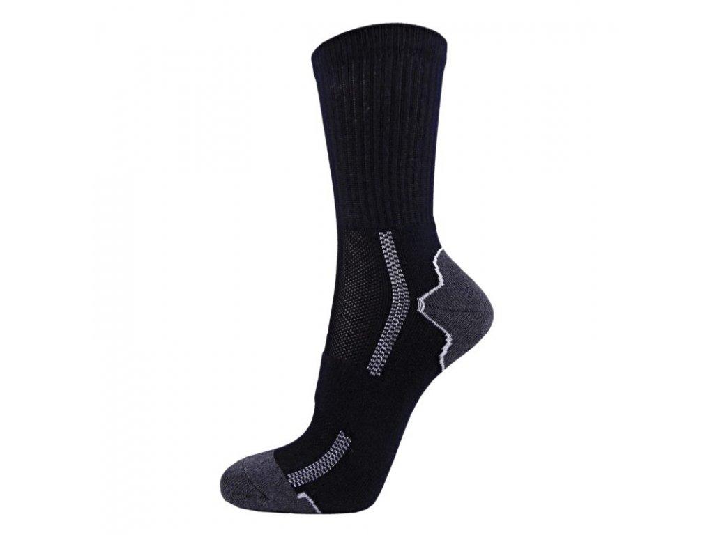 Bavlněné sportovní ponožky DYNAMIC - tmavé