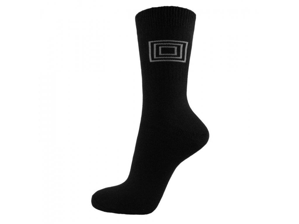 Profi Sport THERMO bavlněné ponožky - černá