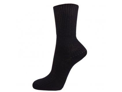 Zdravotní bavlněné ponožky - černá