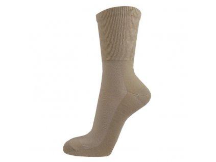 Zdravotní bavlněné ponožky MEDIC TOP - béžové
