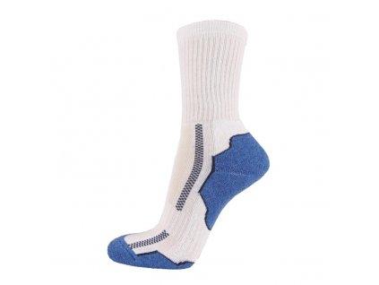 Bavlněné sportovní ponožky DYNAMIC - bílá + jeans