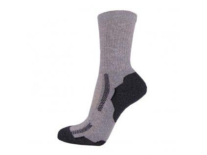 Bavlněné sportovní ponožky DYNAMIC - šedé