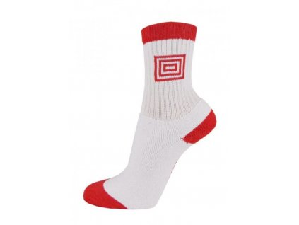 317 profi sport thermo bavlnene ponozky bila cervena