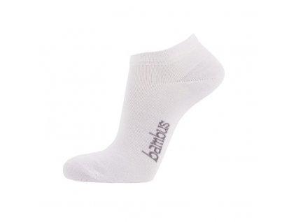 Kotníkové ponožky z BAMBUSOVÉ VISKÓZY - bílá