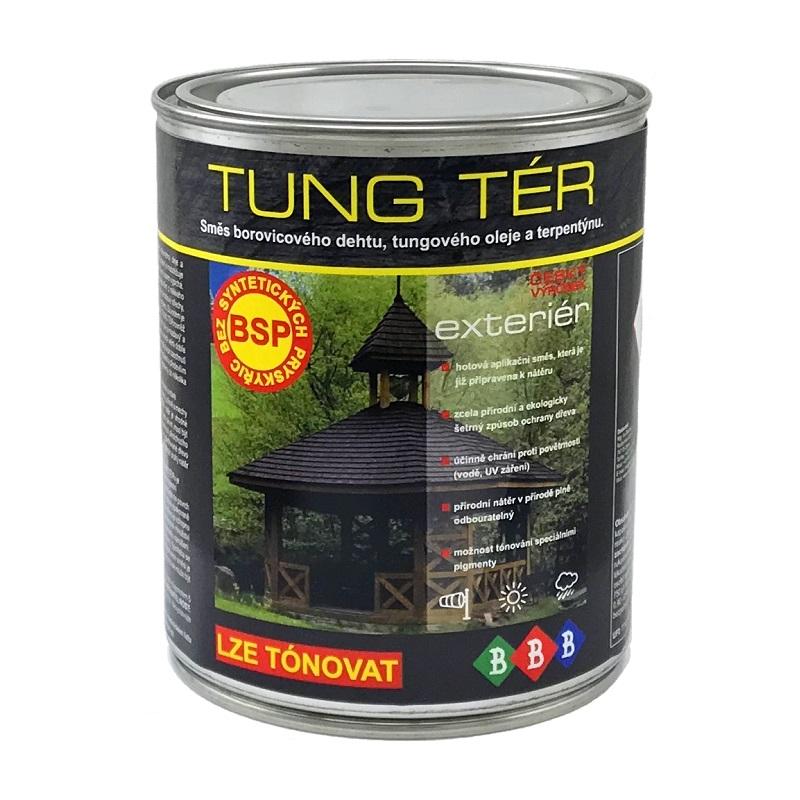 BBB TUNG tér - tradiční směs borovicového dehtu, tungového oleje a terpentýnu pro přírodní ochranu dřeva