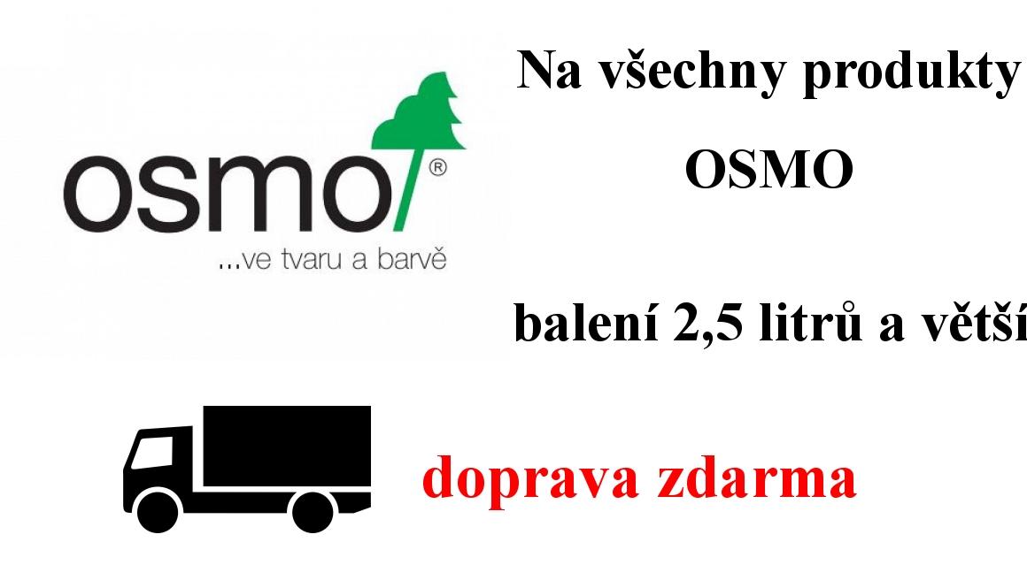 Doprava zdarma na produkty Osmo balení 2,5 litrů a větší